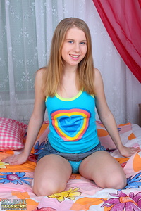 She gives a great deal of attention to her perfect body because it is so tight in these teen ages that she must.