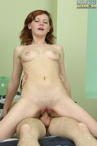 Brunette and red-haired cuties giving blowjobs to their lovers and fucking with them